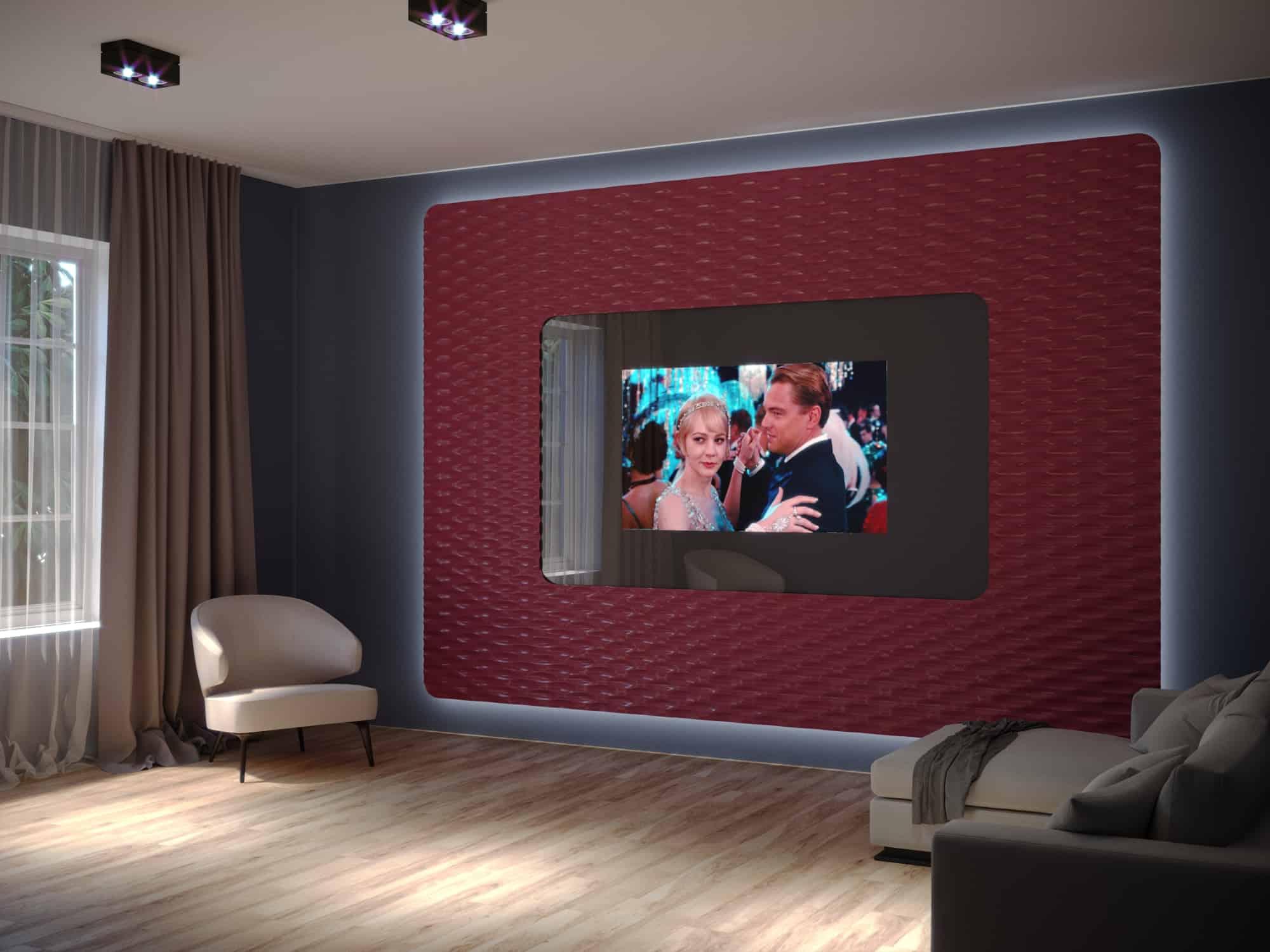 Спрятанный зерклальный телевизор