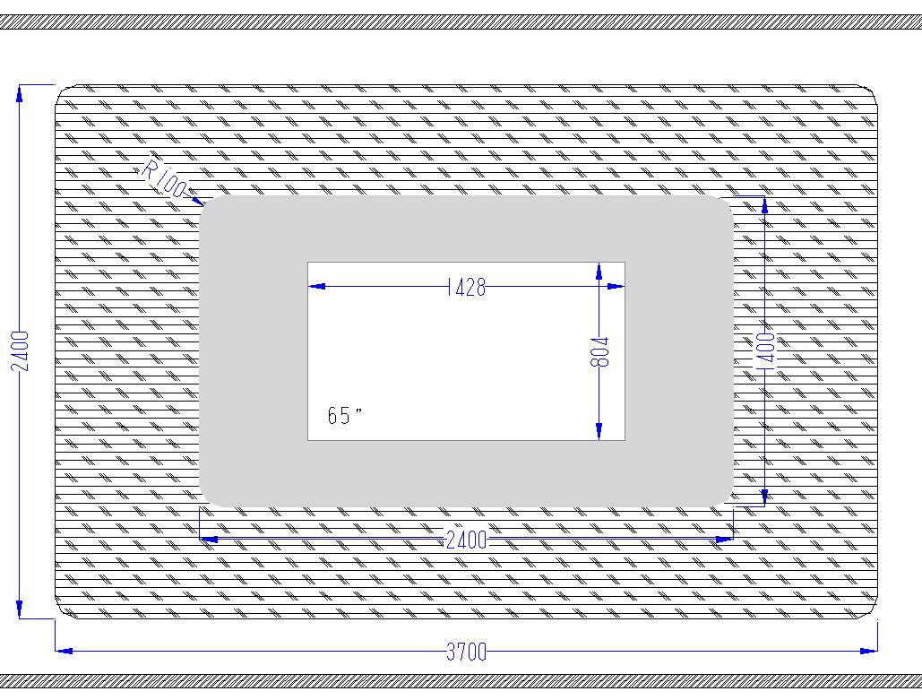Встроенный телевизор чертеж