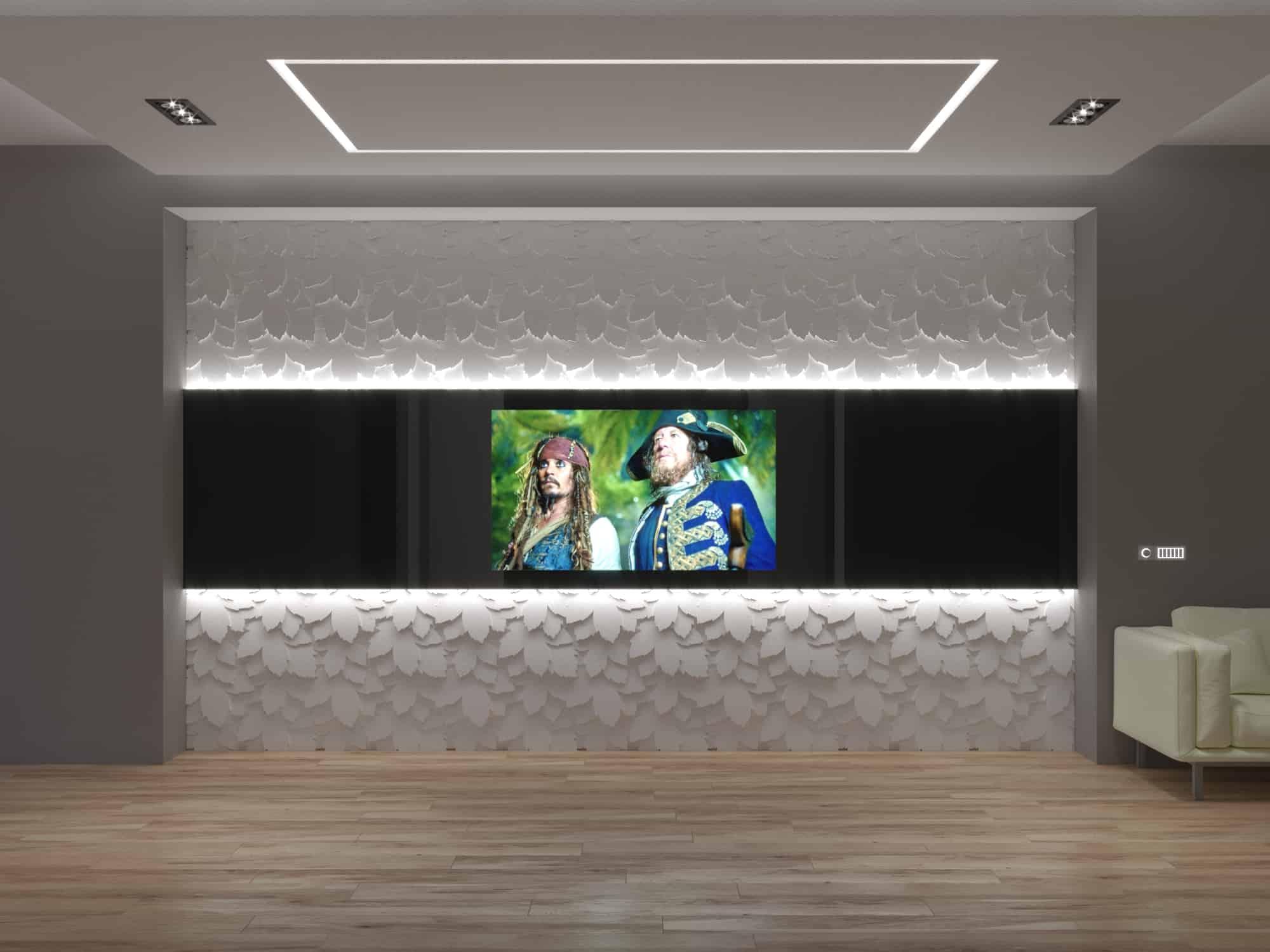 встроенный телевизор с декоративными панелями